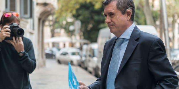 El expresidente del Govern balear Jaume Matas, a su llegada el lunes a la Audiencia de Palma.