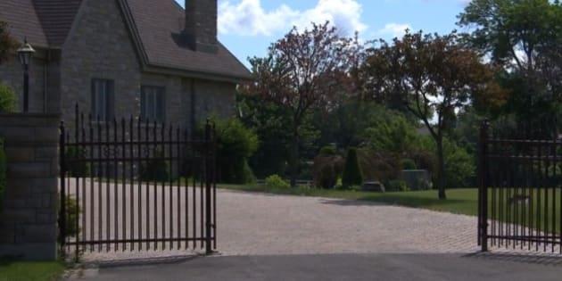 La résidence d'Antonino Catania, sur le boulevard Lacombe, à Le Gardeur.