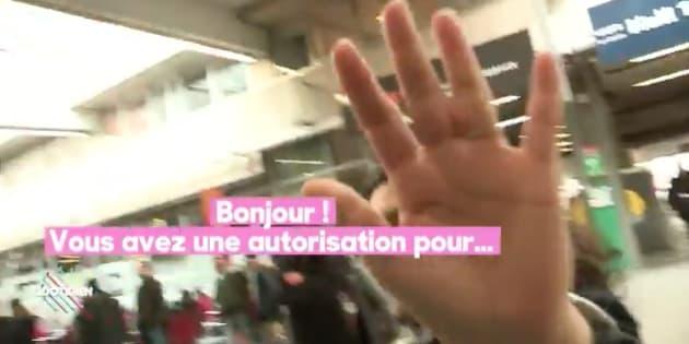 """Grève SNCF: """"Quotidien"""" montre à la perfection la difficulté de filmer dans les gares."""