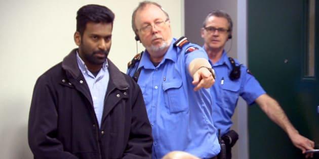 Sivaloganathan Thanabalasingham, un meurtrier allégué que le Canada a expulsé au Sri Lanka sous le motif de « grande criminalité » en raison de ses antécédents judiciaires en matière de violence conjugale.