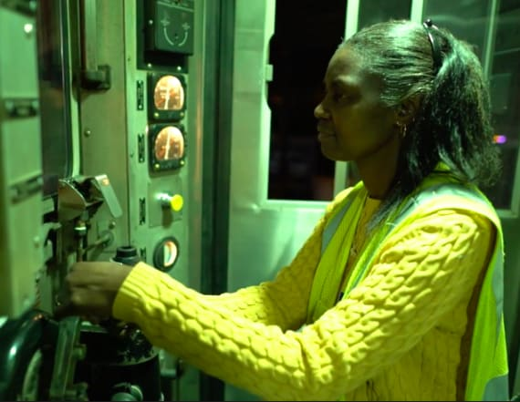 Woman has operated train's night shift for decades