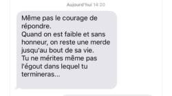Ce SMS en dit long sur la violence de la scission en cours au