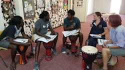 How Hand Drumming Is Helping Kids Cope With