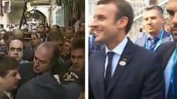 En plein bain de foule, Macron se lance dans une imitation de