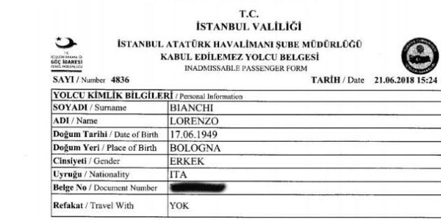 """""""Vi racconto come sono stato cacciato da Erdogan"""""""
