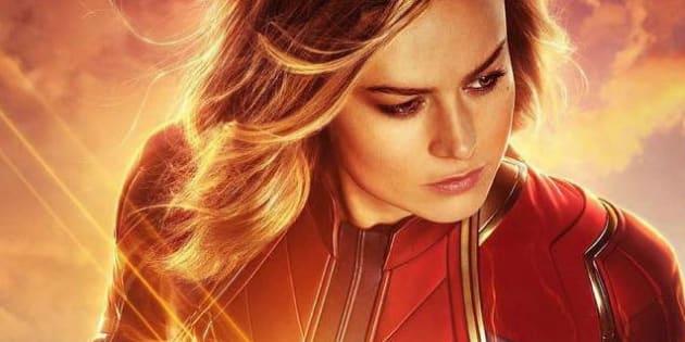 Atriz vencedora do Oscar, Brie Larson dá vida à heroína da Marvel.