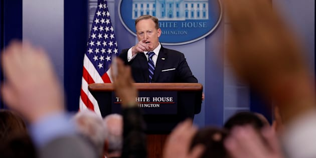 White House Communications Director Sean Spicer holds the daily press briefing at the White House in Washington, U.S., February 22, 2017. REUTERS/Jonathan Ernst