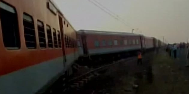 Clean-up begins after horror train derailment leaves 23 dead in India