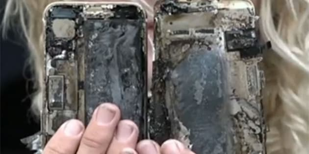 An Aussie surfer's iPhone 7 has reportedly burst into flames and destroyed his car.