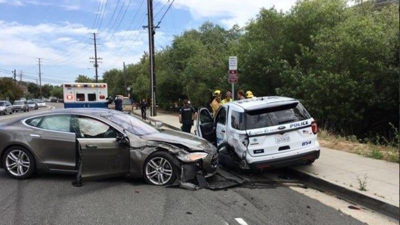 Tesla hits parked California police vehicle; driver blames Autopilot