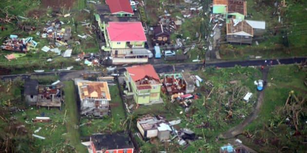 Les ravages de l'ouragan Maria sur l'île de la Dominique le 19 septembre 2017.