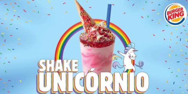 Shake Unicórnio será vendido em todas as unidades BK entre 30 de maio e 15 de junho.