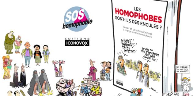 Ce recueil de dessins satiriques veut rire des insultes homophobes