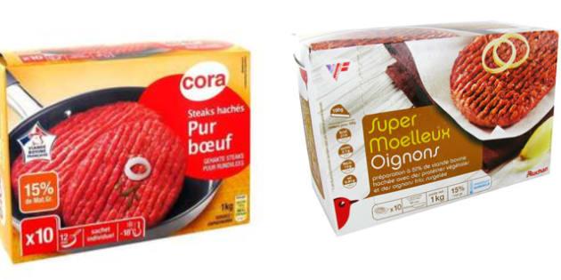 Des steaks hachés Cora, Thiriet et Auchan contaminés à l'E.coli