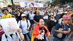 「生産性がない」の杉田水脈・衆院議員(自民党)に対し、性的少数者らが渋谷で抗議デモ