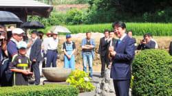 安倍首相、総裁選へ「6年前と志は変わらず」父の墓前で