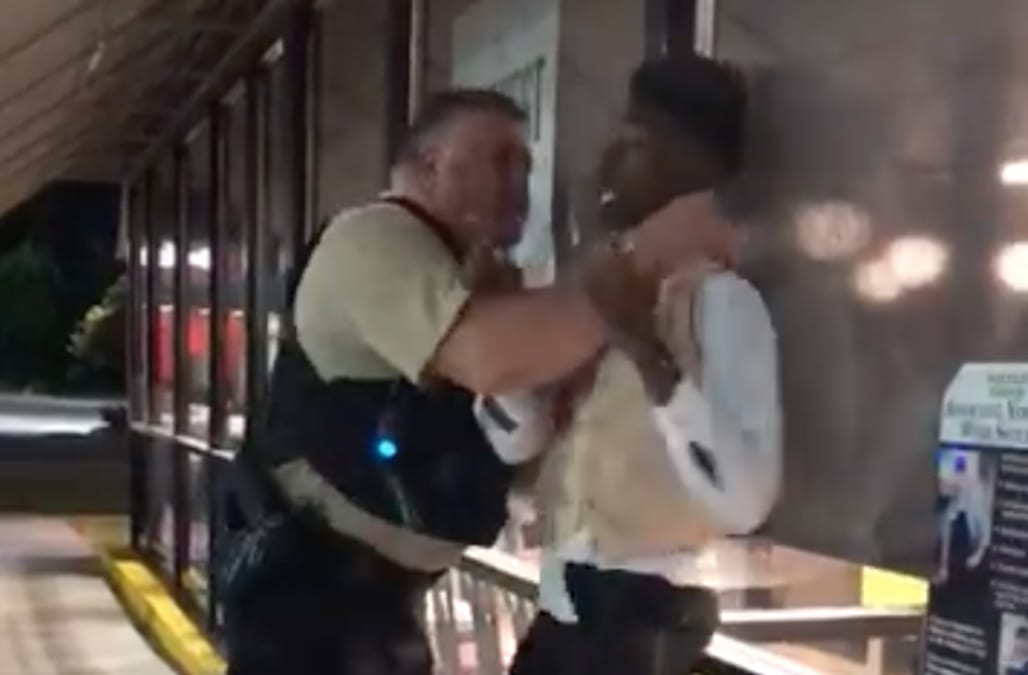 Officer Puts Man In Chokehold Outside A North Carolina Waffle House
