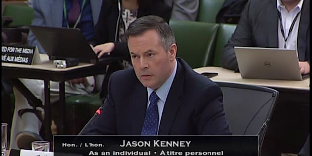 Jason Kenney appeared before a parliamentary finance committee to talk about the federal carbon tax on May 7, 2018.