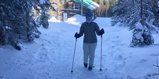 En crampons mercredi au Refuge à Ligori du Sentier des Caps au sommet du Massif de Charlevoix