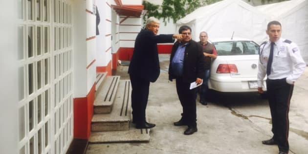 Andrés Manuel López Obrador a su llegada a la casa de transición en la colonia Roma, Ciudad de México, el 9 de julio de 2018.