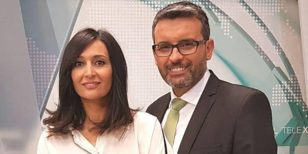 Tati Moyano y Alfonso Hermida, presentadores de la TVG.