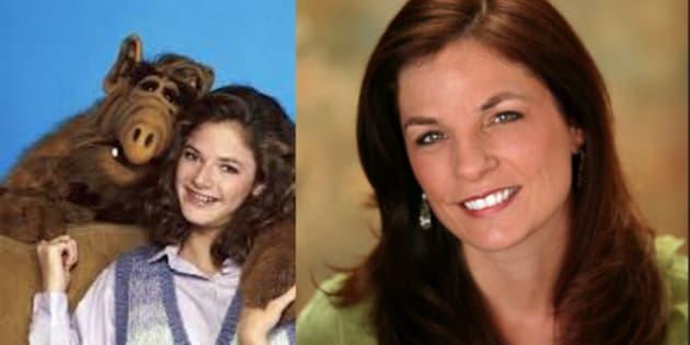 Andrea Elson, estrela de Alf, o ETeimoso, antes e nos dias atuais.