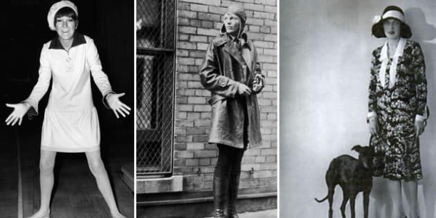 Mary Quant ideò la minigonna |  Amelia Earhart sorvolò l' Atlantico |  storie di donne comuni