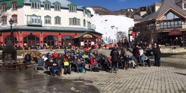 La saison du bronzage semblait débuter cette semaine au Mont Tremblant