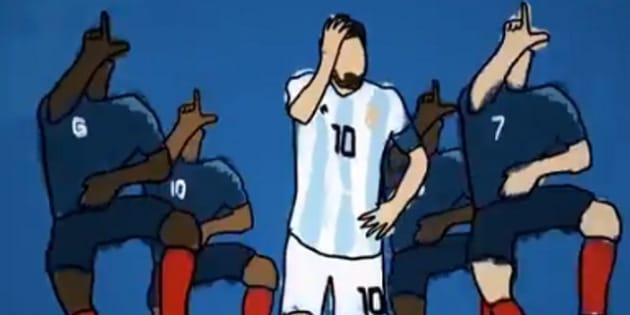"""Messi """"dançou"""" e fez a alegria dos brincalhões nas redes sociais."""