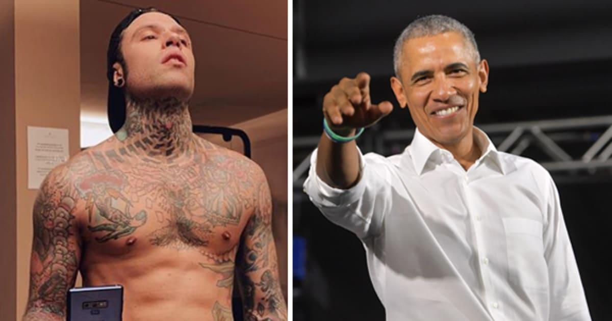 """Fedez: """"Ho chiesto un selfie ad Obama che era in palestra con me e lui mi ha detto no"""""""