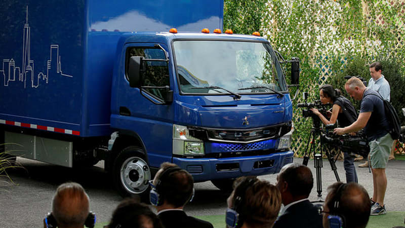 Fuso eCanter receives its global launch in NY