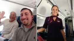 La figlia hostess lavora a Natale, papà prende 6 voli per stare insieme a