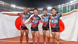 アジア大会、日本男子リレーが金メダル、でも...淡々とする日本勢
