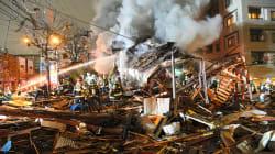 札幌で爆発、42人けが。飲食店は倒壊、不動産仲介会社の店舗は吹き飛ぶ。ガス漏れか?