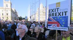 EU離脱のイギリス国民投票、「やり直し」求める大規模デモに約70万人が参加