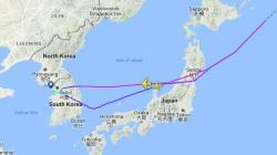 旅客機が日本領空で北朝鮮ミサイル目撃か 地図で見るとどの辺?