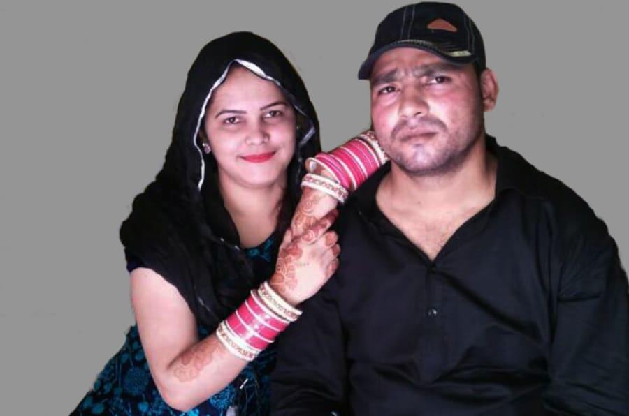 Surabhi Chauhan with her husband Rahat Qureshi.