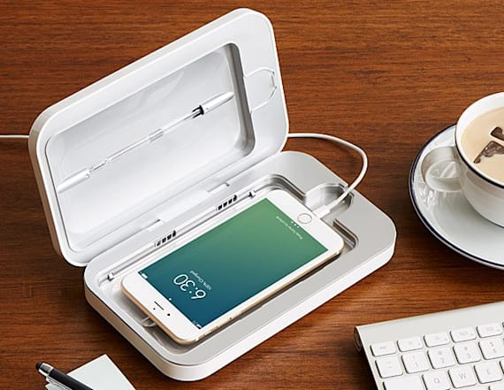 This device sanitizes any cell phone in minutes