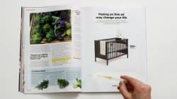 Il suffit aux femmes enceintes d'uriner sur cette publicité Ikea pour obtenir une