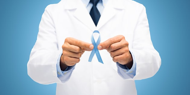 Le ruban bleu, symbole de la lutte contre le cancer de la prostate (illustration)