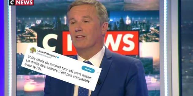"""Wauquiez répond à Dupont-Aignan qui assure qu'ils """"se parlent"""""""
