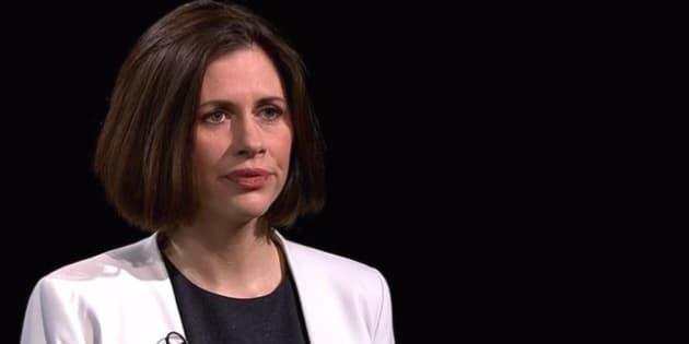 Helen Evans durante la entrevista en Channel 4 News.
