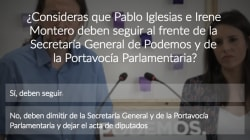Seas o no de Podemos: ¿Qué votarías en la consulta sobre Iglesias y