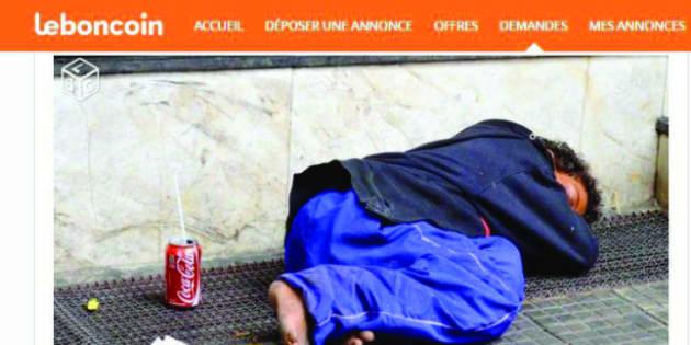 """Capture d'écran de l'annonce publiée sur le site """"Le Bon Coin"""" par le responsable communication du FN Charente."""