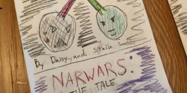 """À 9 ans, Daisy Cryer a réalisé un spin-off de """"Star Wars"""" intitulé """"Nar Wars: Le conte de Narth Vader"""". Une idée qui plaît beaucoup à Mark Hamill."""