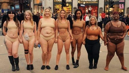 どんな体も美しい。7人の女性が、下着姿でヴィクトリアズ・シークレットに抗議