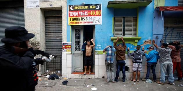 Operação policial do último domingo na Cracolândia, centro de São Paulo.