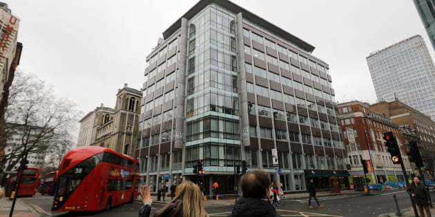 L'édifice abritant les locaux de Cambridge Analytica à Londres.