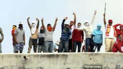 Reos protestan en penal de Topo Chico contra cobro de