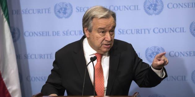 """Corée du Nord: Le patron de l'ONU veut des discussions """"sérieuses"""" pour résoudre le conflit."""